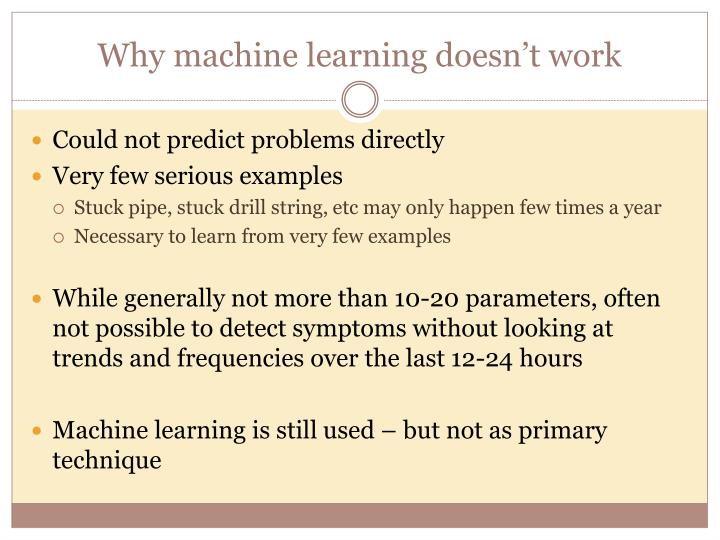 Why machine learning doesn't work