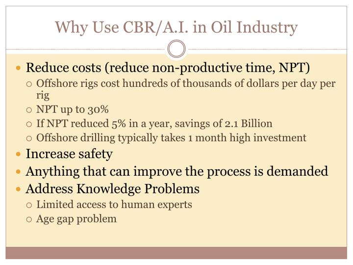 Why Use CBR/A.I. in Oil Industry