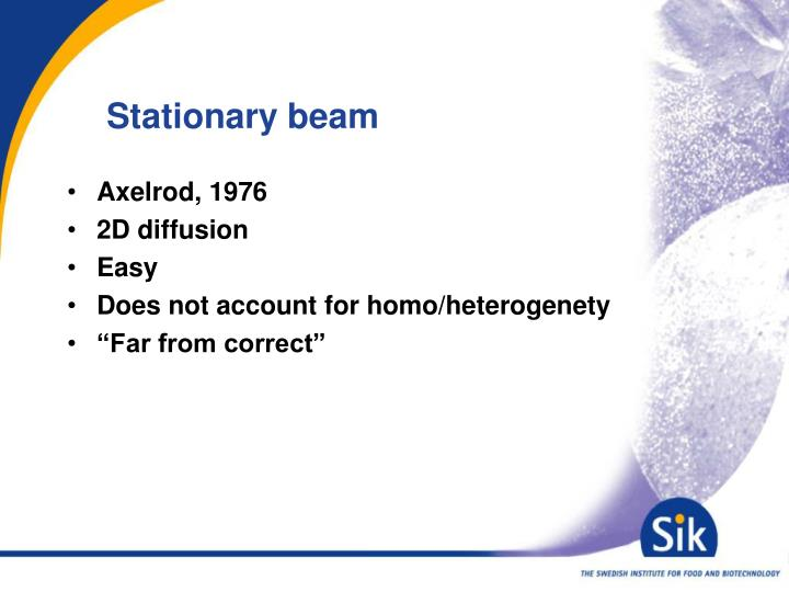 Stationary beam