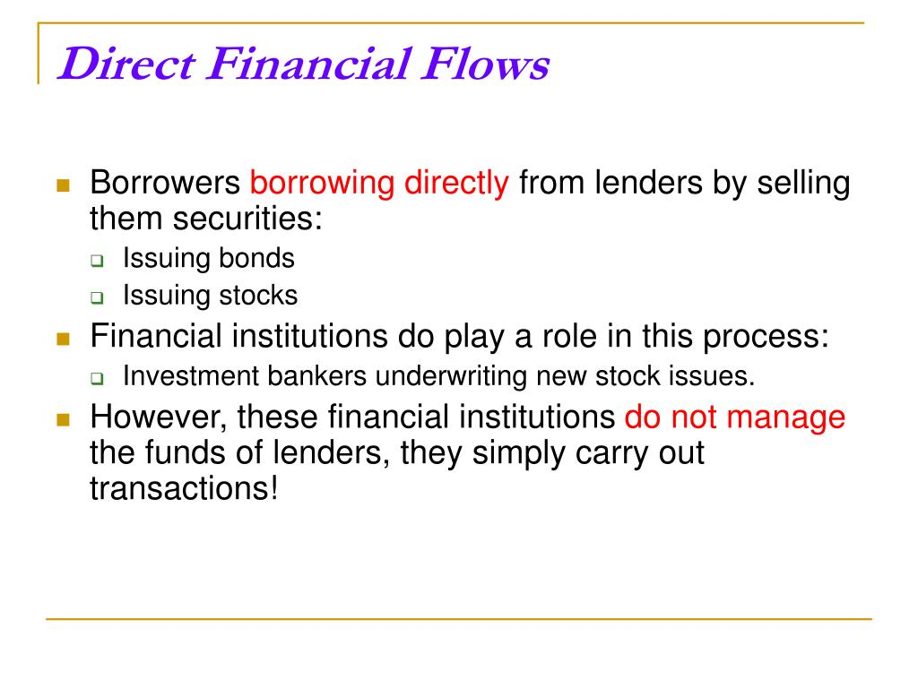 Direct Financial Flows