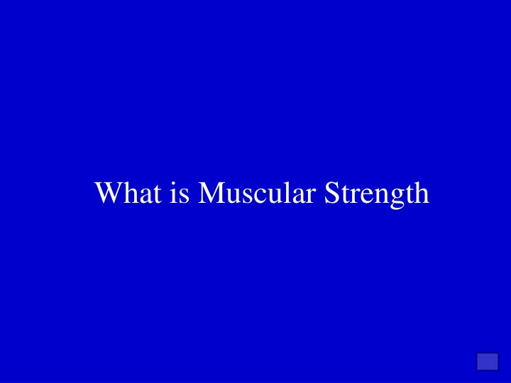 What is Muscular Strength