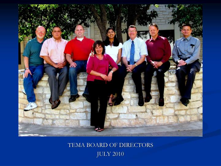 TEMA BOARD OF DIRECTORS