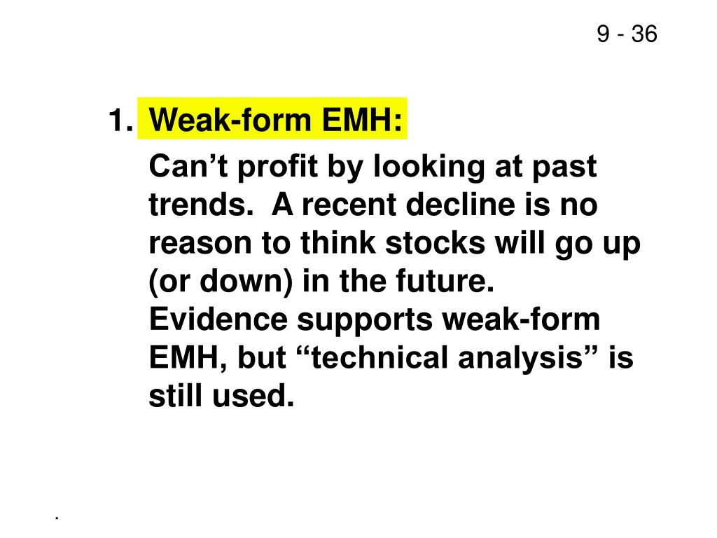 1.Weak-form EMH: