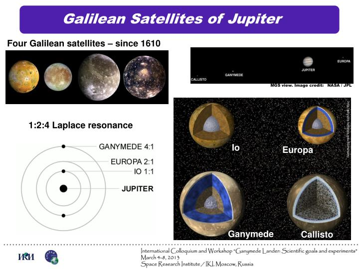 Galilean satellites of jupiter