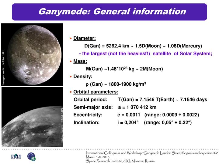 Ganymede: General information