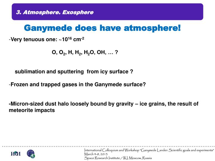 3. Atmosphere. Exosphere