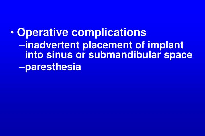 Operative complications