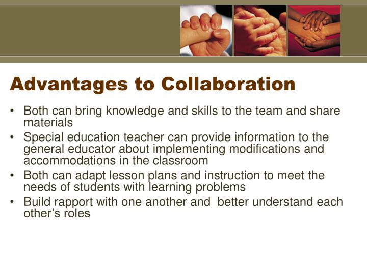 Advantages to Collaboration