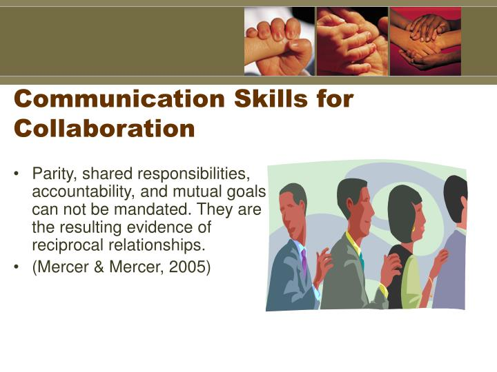 Communication Skills for Collaboration