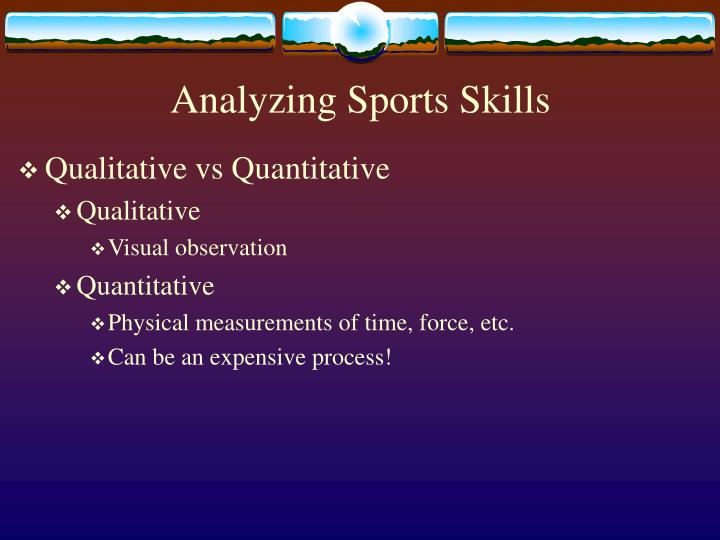 Analyzing sports skills