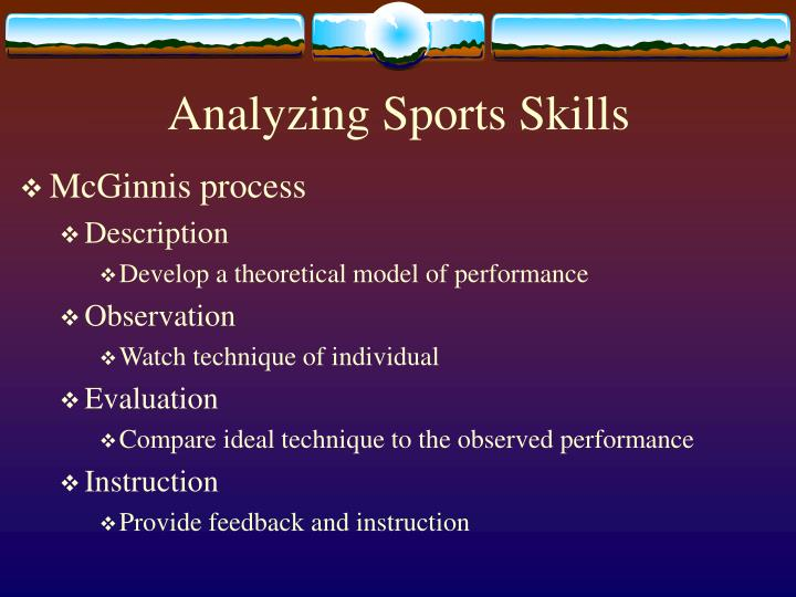 Analyzing sports skills1