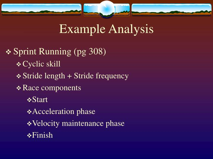 Example Analysis