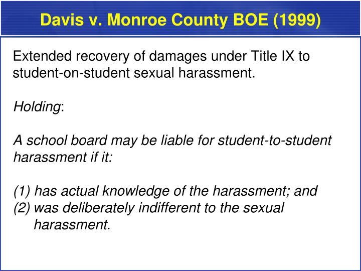 Davis v. Monroe County BOE (1999)