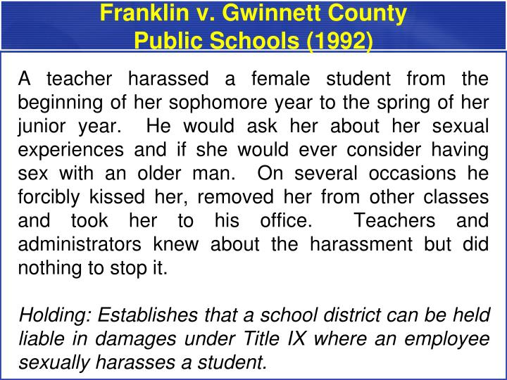 Franklin v. Gwinnett County