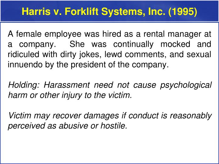 Harris v. Forklift Systems, Inc. (1995)