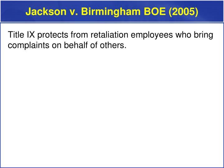 Jackson v. Birmingham BOE (2005)
