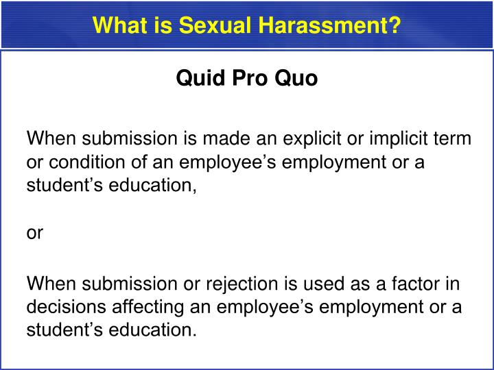 What is Sexual Harassment?
