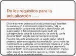 de los requisitos para la actualizaci n art 12 ralr