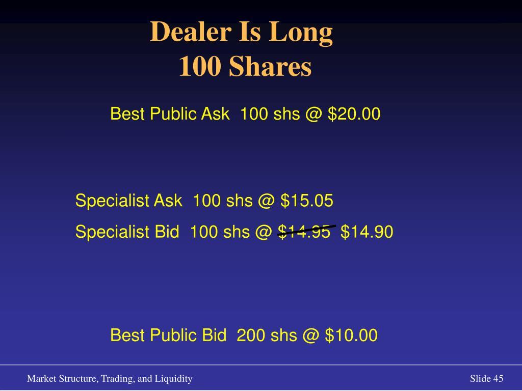 Dealer Is Long