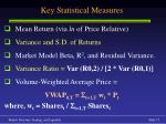 key statistical measures