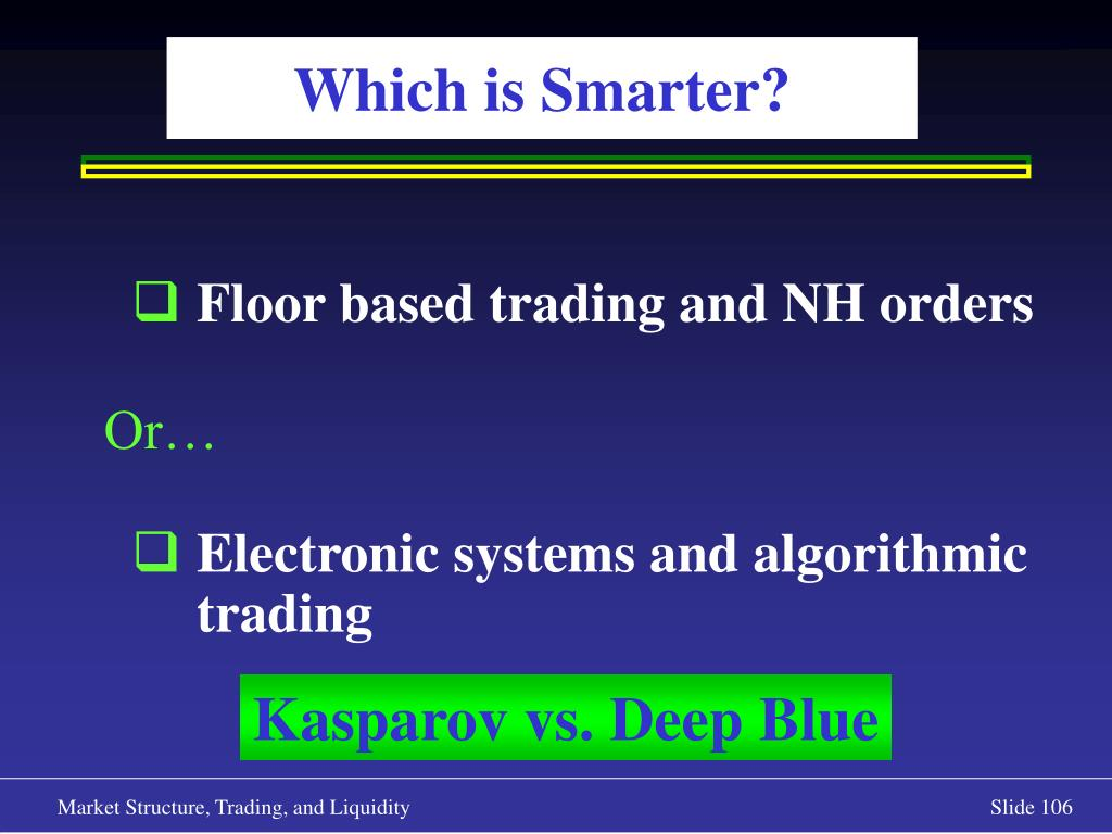 Floor based trading and NH orders