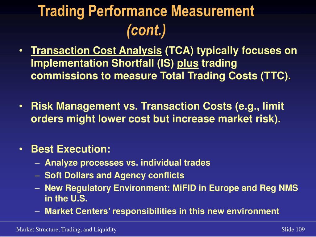 Trading Performance Measurement