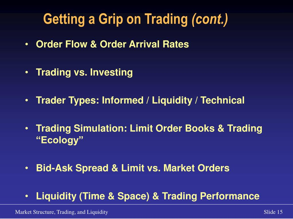 Getting a Grip on Trading