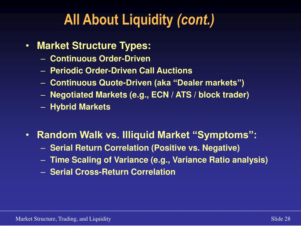 All About Liquidity