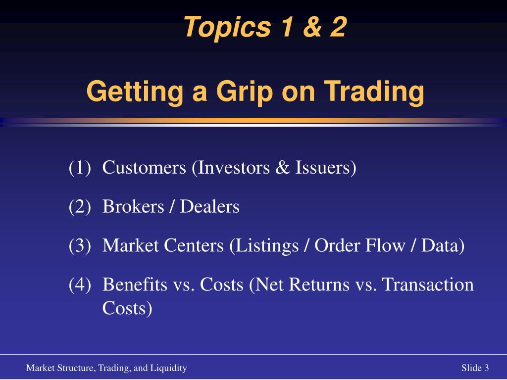 Topics 1 & 2