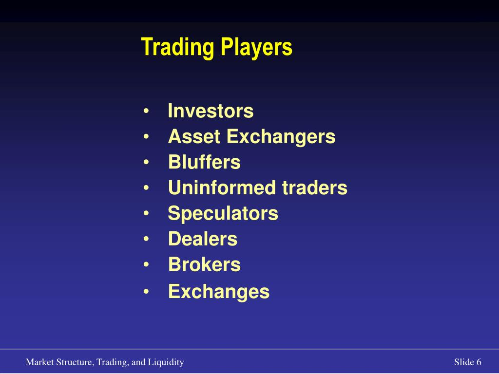 Trading Players
