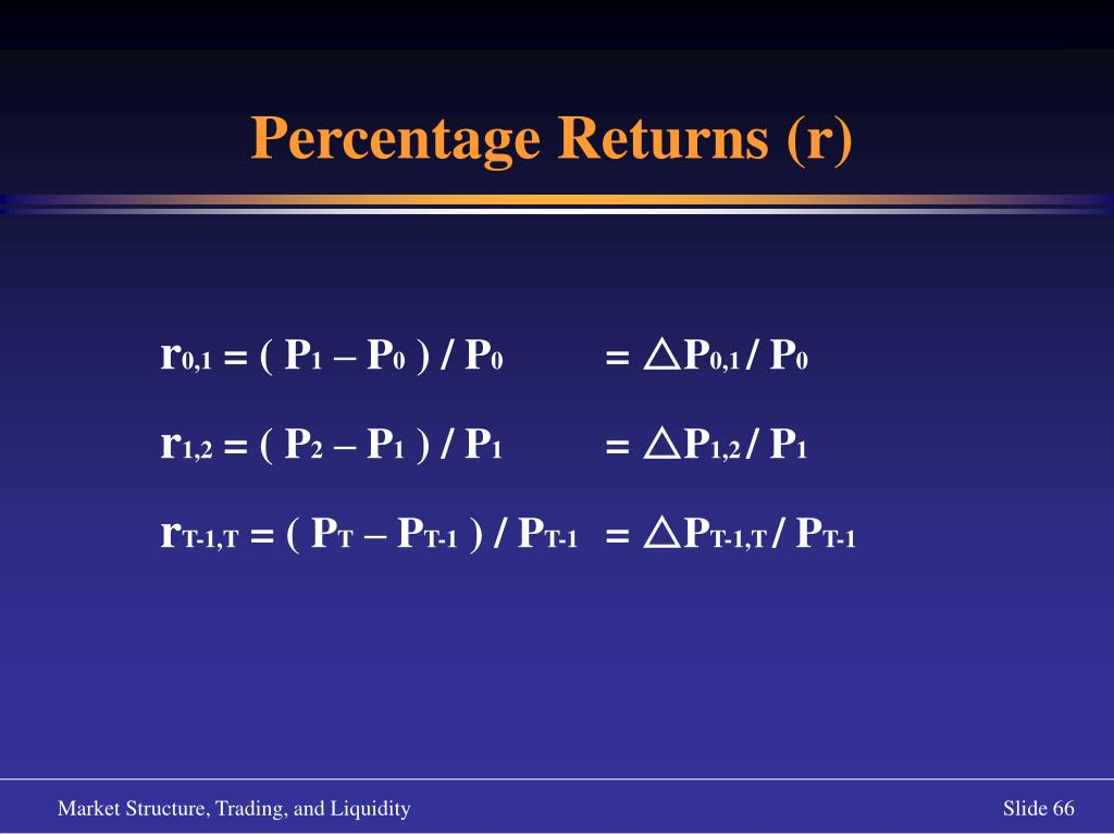 Percentage Returns (r)