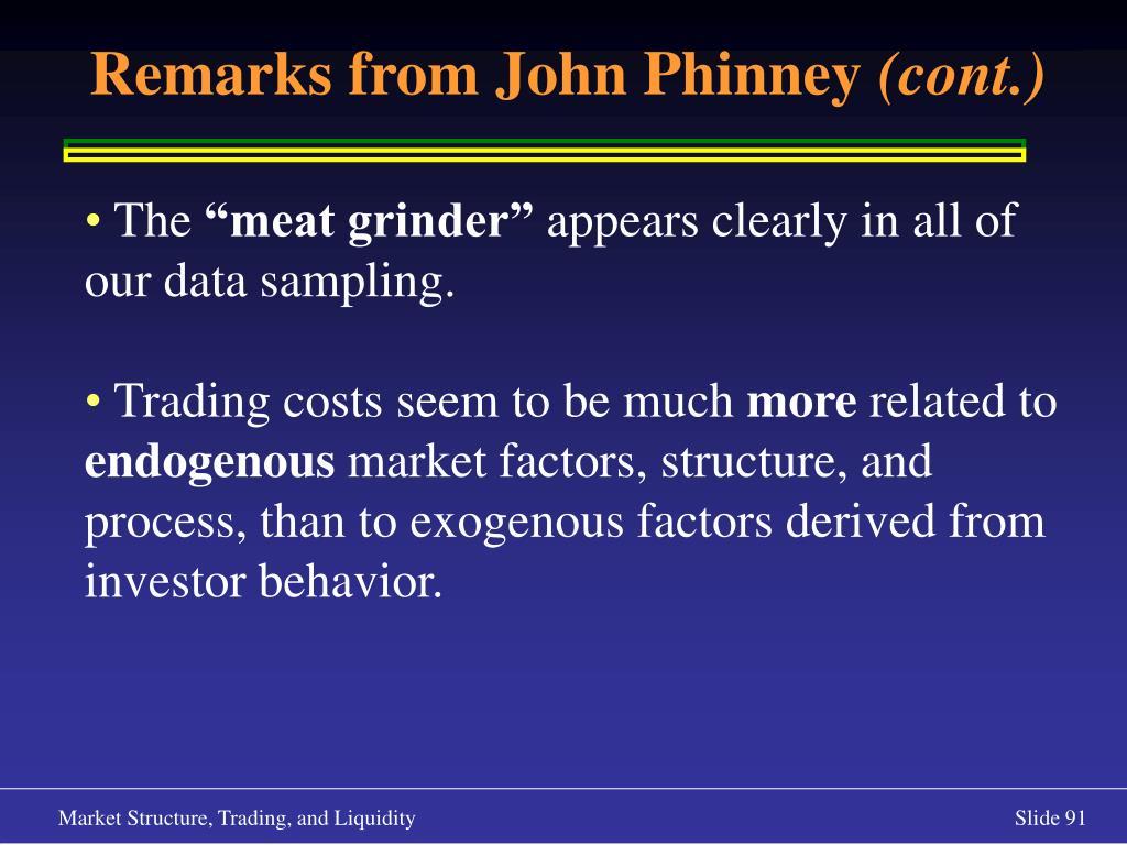 Remarks from John Phinney