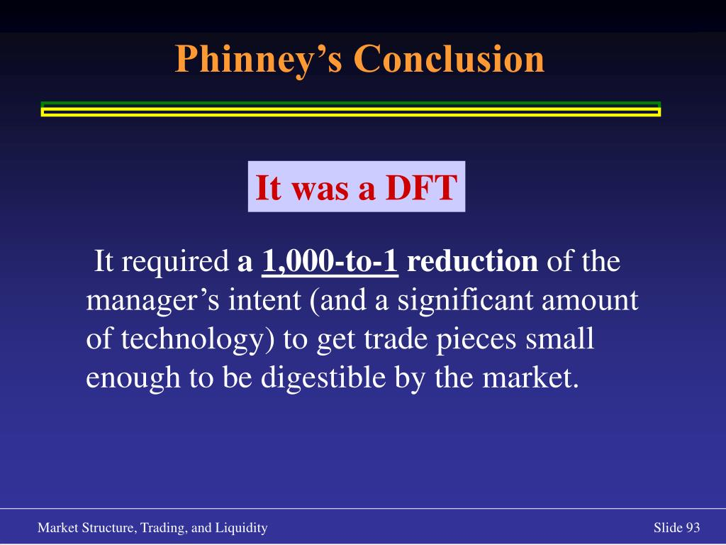 Phinney's Conclusion