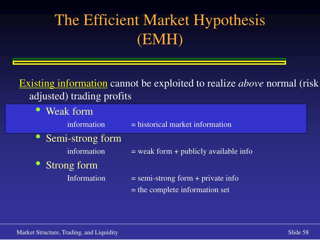Existing information