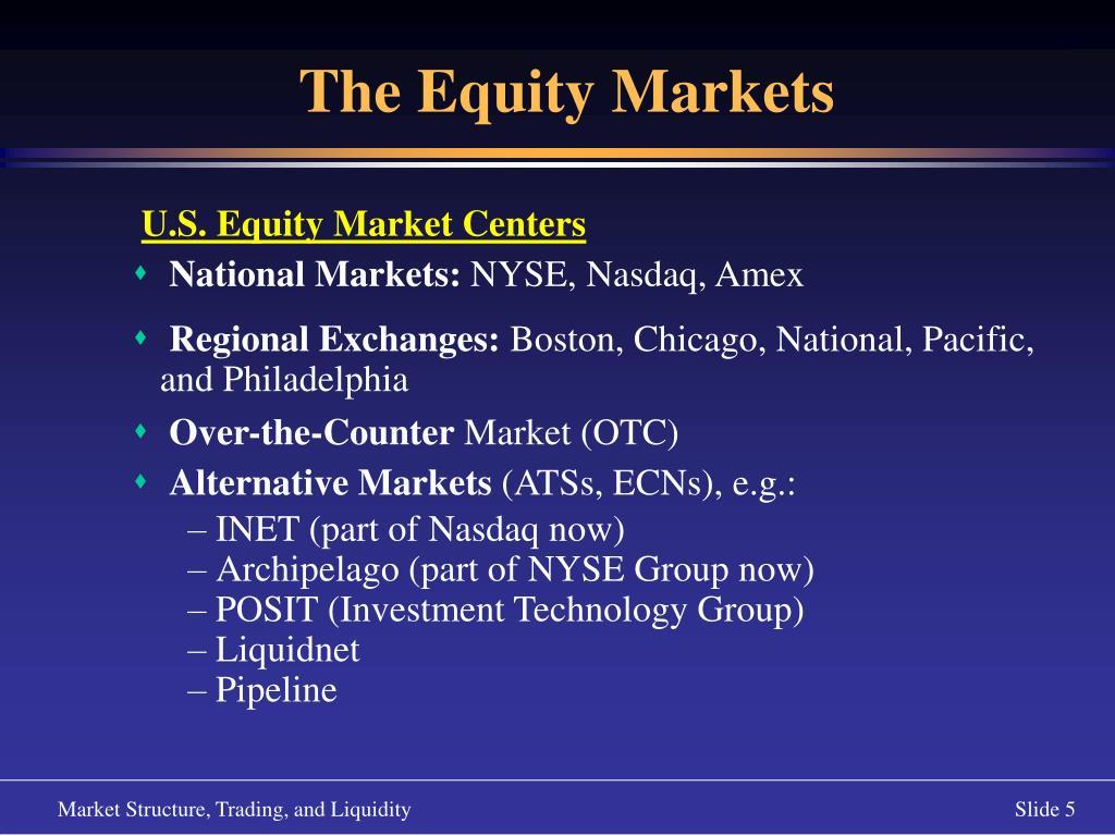 U.S. Equity Market Centers