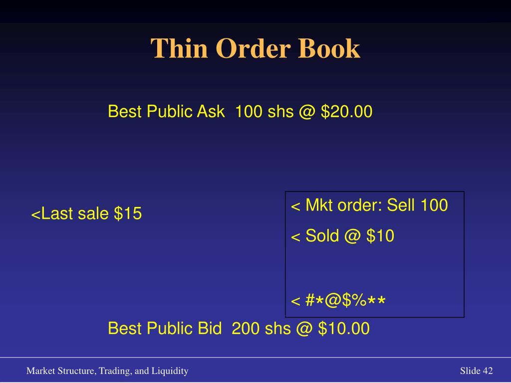 Thin Order Book