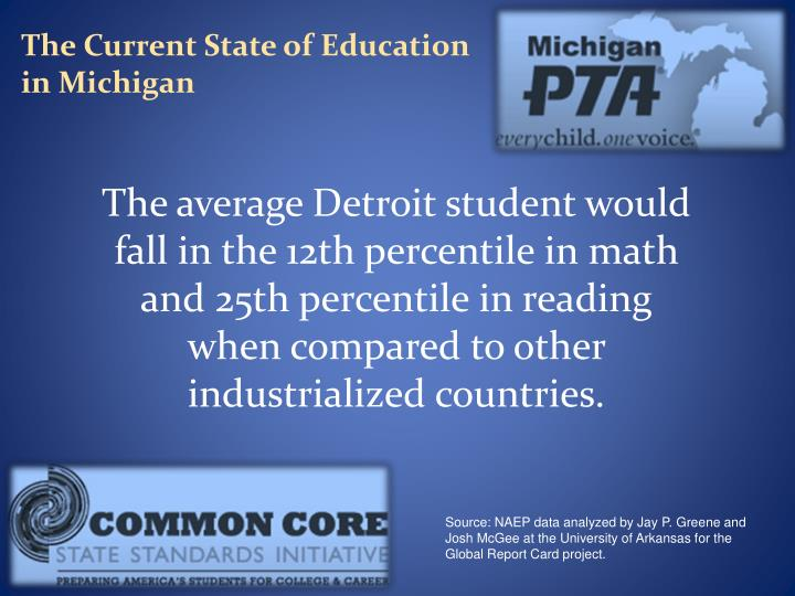 The Current State of Education in Michigan