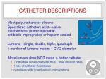 catheter descriptions1