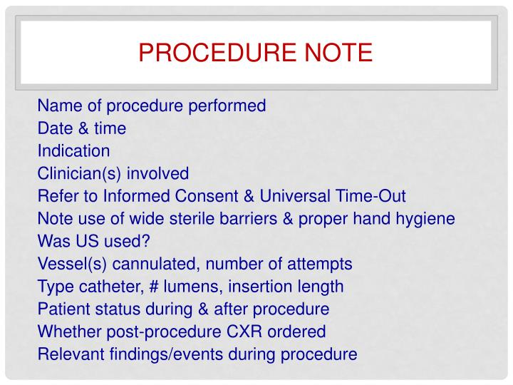 Procedure note
