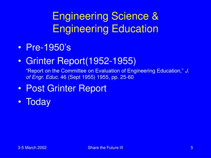 Engineering Science &