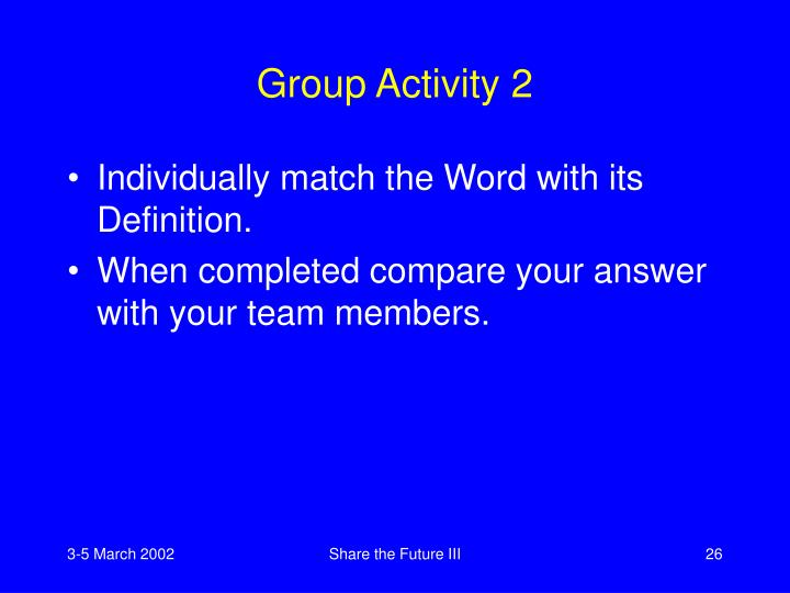 Group Activity 2