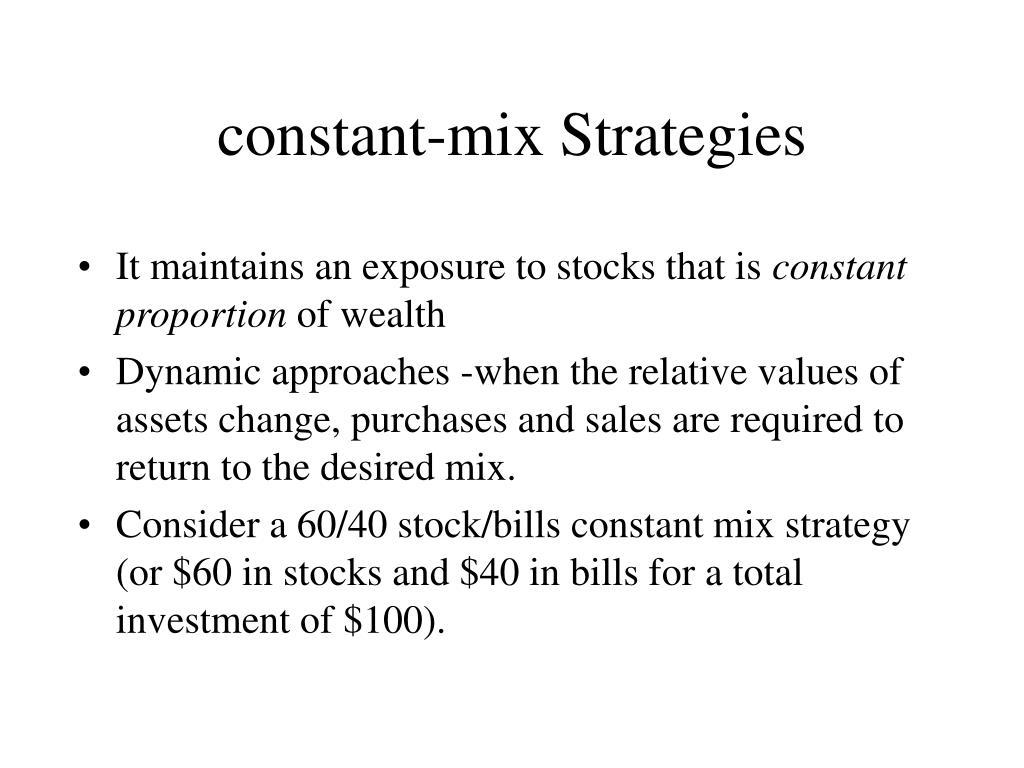 constant-mix Strategies
