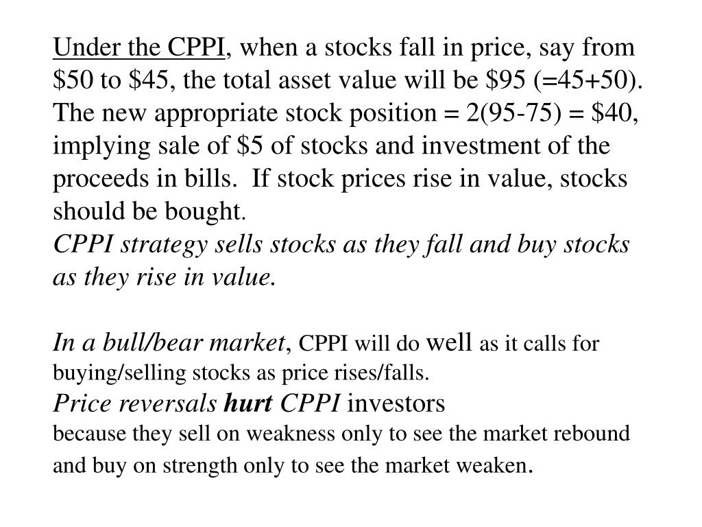 Under the CPPI