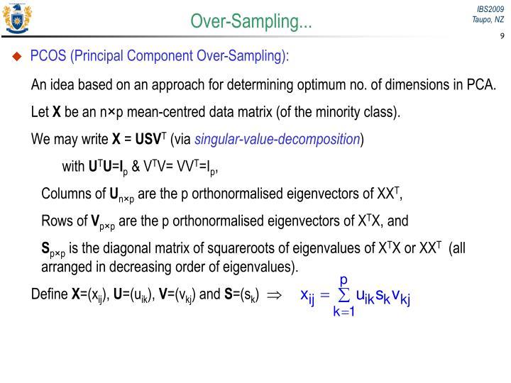 Over-Sampling...