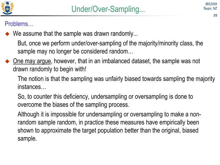 Under/Over-Sampling...