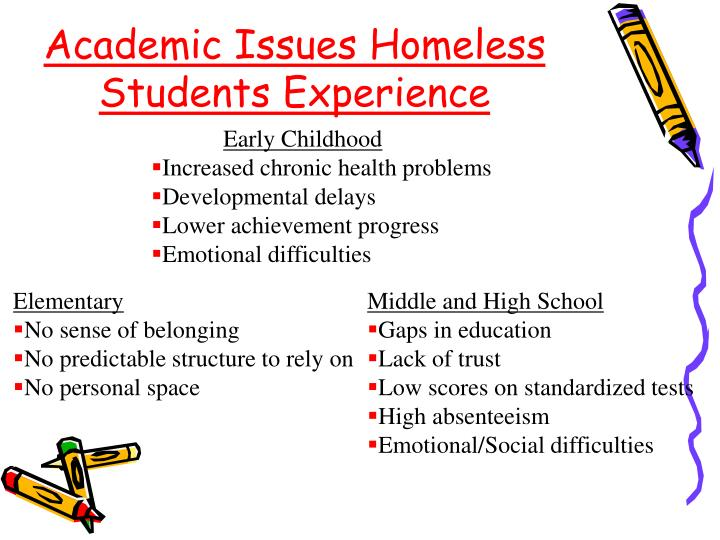 Academic Issues Homeless Students Experience