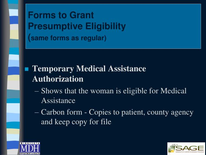 Forms to Grant