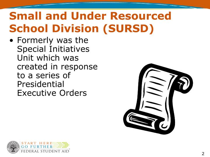 Small and Under Resourced School Division (SURSD)
