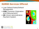 sursd services offered3