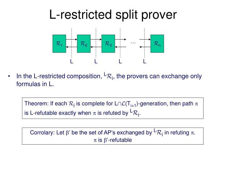 L-restricted split prover